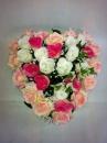 coeur-rose blanc saumon
