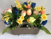 panier-couleur-tulipe-jonquille-artificielle