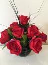 4 Pot boule noire rose rouge
