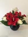 6 Pot boule noire amaryllis rose