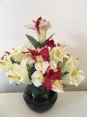 8 Pot boule noire iris lys