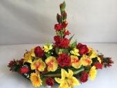 plateau-oval-fleur-rouge