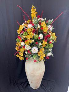 amphore poterie terre cuite fleur artificielle